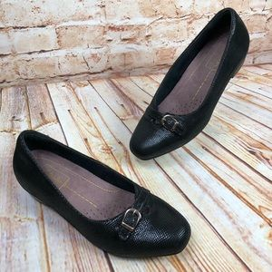 Clarks Artisan Black Suede Low Heel Shoes Loafers